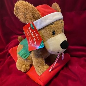 Hallmark Rockin' Rover Animated Xmas Plush Dog NWT